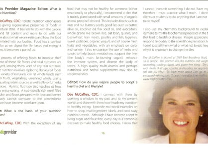 Holistic Provider Magazine Summer 2006
