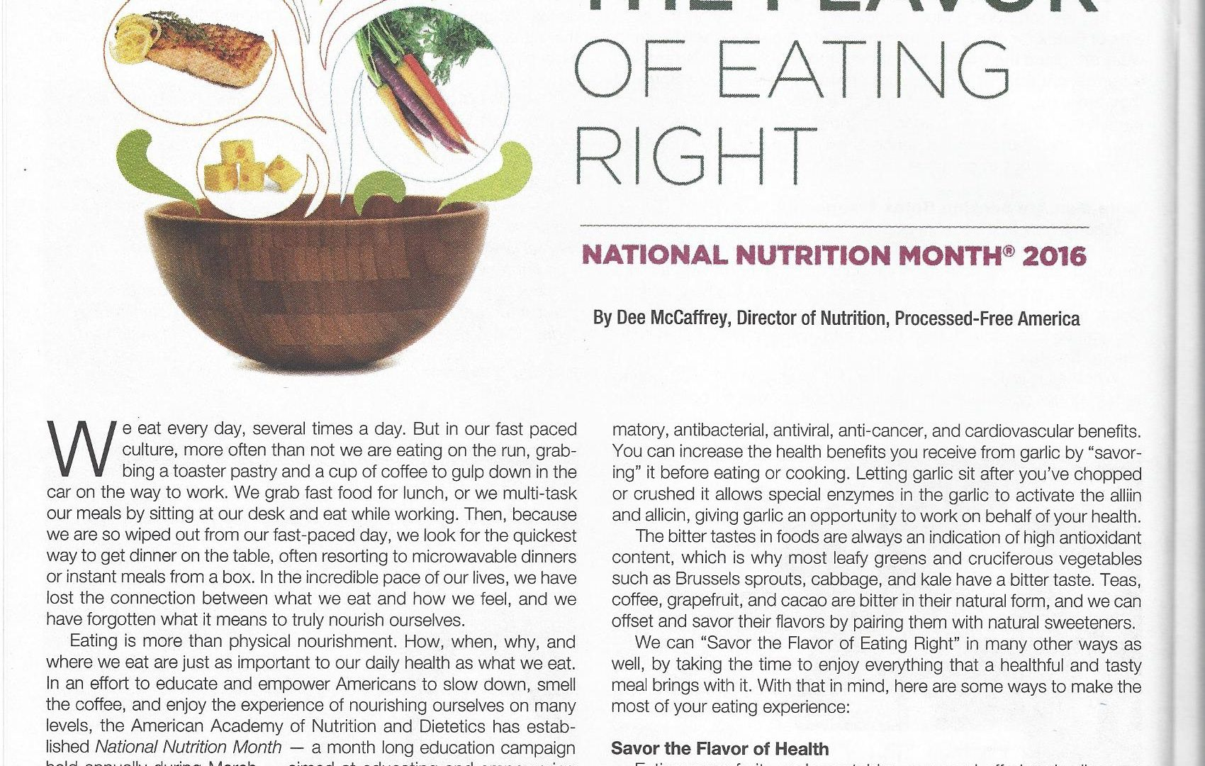 Healthy Cells Magazine March 2016