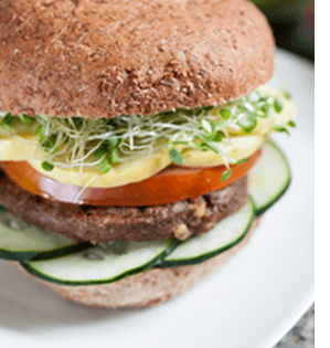 Salmon Burger on Sprouted Bread