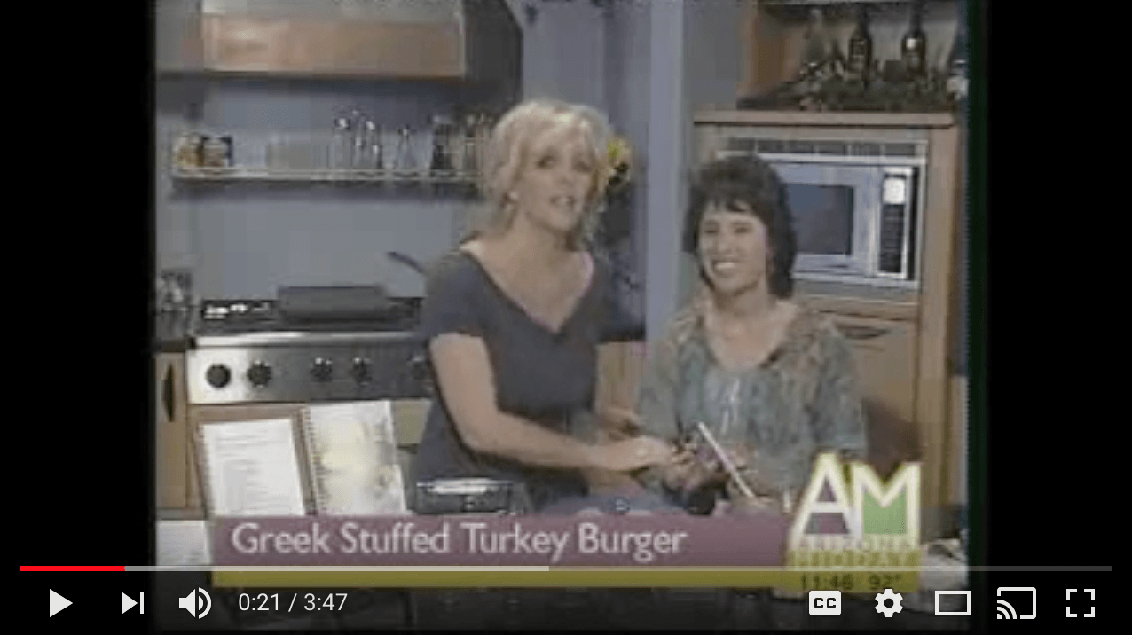 Greek Stuffed Turkey Burger